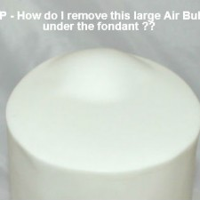 How To Remove Large Air Bubbles From Fondant