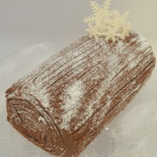Milk Chocolate Log, Vanilla Filling, Covered In Milk Chocolate Ganache