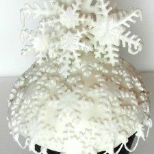 Snowflake & Tree Decorated Domed Cupcakes