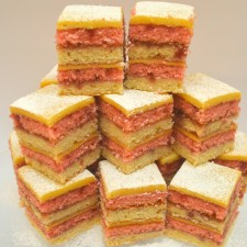 Battenburg Traybake With Raspberry Jam And Marzipan